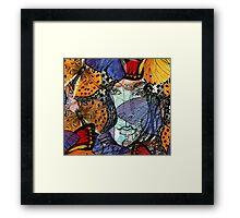 Face Framed by Butterflies – March 27, 2010 Framed Print