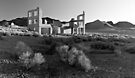 First Light at Rhyolite Ghost Town by Zane Paxton