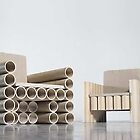 paper tube chair by Manfred Kielnhofer by kielnhofer