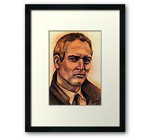 Paul Newman celebrity portrait Framed Print