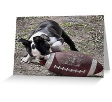 Its Puppy Football Time Greeting Card