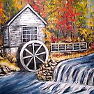 Mill in the Fall by Pamela Plante