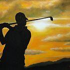 Sunset Golfer by artrme