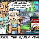 Andy Warhol The Early Years by Londons Times Cartoons by Rick  London
