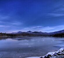 Chittenden Reservoir by Moonlight by bpennphoto