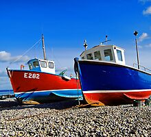 Fishing boats at beer by Rob Hawkins