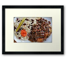 Caribbean Jerk Chicken with Rice and Peas Framed Print