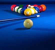 Ready to Break - Blue Cue by Doug Greenwald