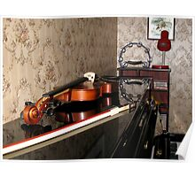 Violin on top of Piano Poster
