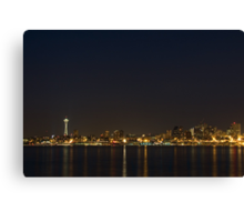 Seattle Skyline at Night Canvas Print