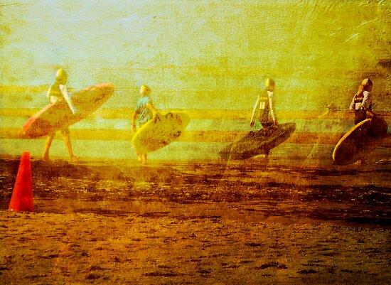 Surf Lifesaving Girls by © Helen Chierego