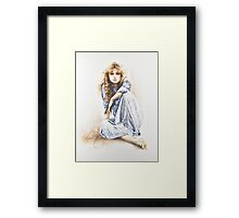 """Hippy Girl"" Painting in Oils Framed Print"