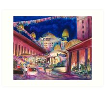 Sunway Play By Night Art Print
