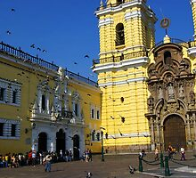 Church in Downtown Lima by Elena Vazquez