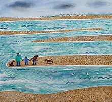 Cut Off, West Wittering Beach by Amanda White