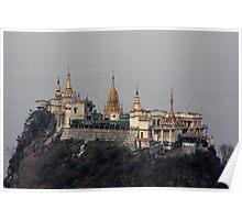 Buddhist monastery on Taung Kalat Poster