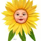 Flower Folk - Sunflower by Karen  Hull