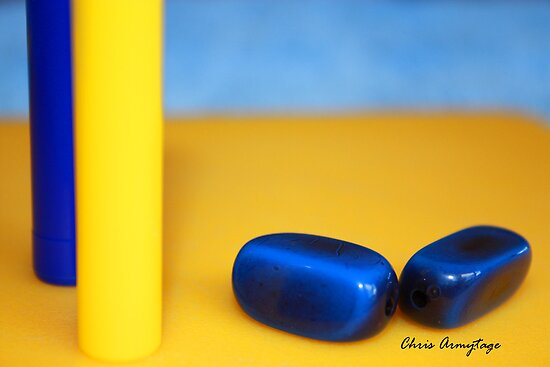Still Life in Blue and Yellow by Chris Armytage™