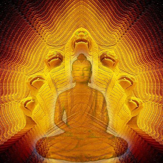 Buddha & Mucalinda by Hugh Fathers