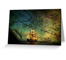 Treasure Map Greeting Card