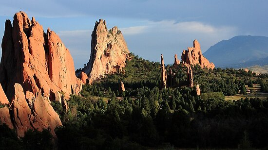 Garden of the Gods (Evening 2) by Carl M. Moore