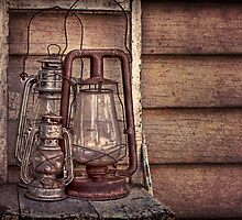 hurricane lamps  by Rosemary Scott