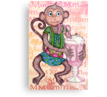 Monkey's Milkshake - mmmm! Metal Print