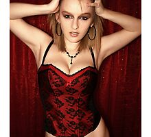 Red Corset by Melanie Davies