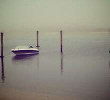 Speed Boat Docked by the Pier. Martha's Vineyard by yiuphotography