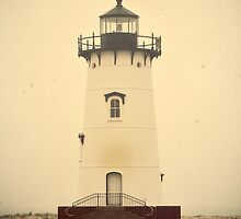 Edgartown Harbor Lighthouse. Martha's Vineyard, Vintage Poster by yiuphotography