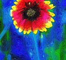 Shaggy Moon for a Shaggy Flower by RC deWinter