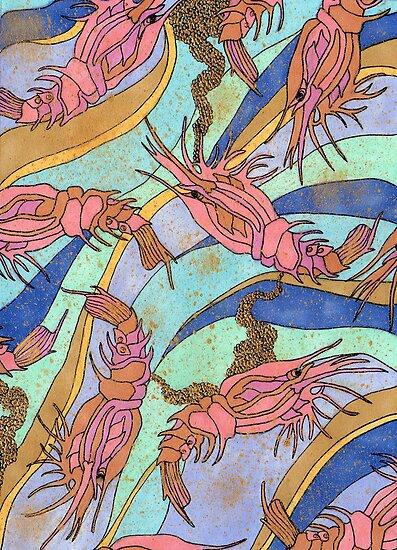 Pink shrimp pattern by lottietc