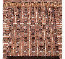 Beautiful brick - Meelfabriek Friso, detail Photographic Print