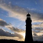 Silhouette of Smeaton&#x27;s Tower, Plymouth, UK by buttonpresser