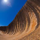 Wave Rock at Full Moon by aabzimaging