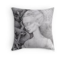 Portrait of a Lady in the Renaissance style Throw Pillow
