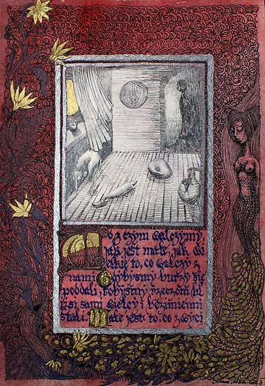 Quiet room- surreal vision with decorative elements by Marzena Ablewska- Lech
