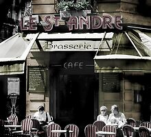 Paris Cafe - coffee culture in Paris street scene by keithphotos