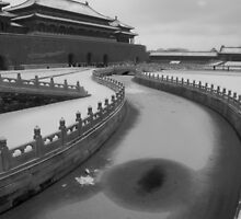 MONOCHROME - Forbidden City in Winter, Beijing, China by Brad Spencer