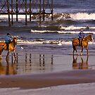 Beach Ride - Saltburn by Trevor Kersley
