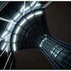 Metal spider web by Richard Vantielcke