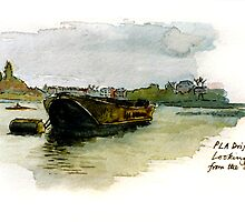 Barge at Chiswick by Richard Waldron