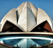 The expressionistic Lotus temple by rickvohra