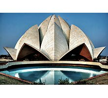 The expressionistic Lotus temple Photographic Print