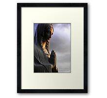 Say a Prayer (Madonna statue) Framed Print