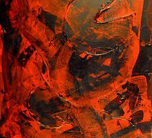 Evil Pac-man(Abstract)©  by DwPaintings