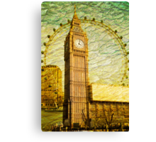 Grungy Big Ben: London UK Canvas Print