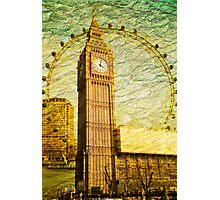 Grungy Big Ben: London UK Photographic Print