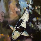 Utsuri Koi Reflections by Michael Creese