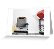 THE ARMCHAIR AND THE BUTTERFLY Greeting Card